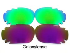 Galaxy Replacement Lenses For Oakley Racing Jacket Green&Purple Polarized 2PS
