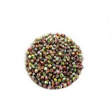 Czech Fire Polished Faceted Round Glass Beads~Magic Apple~4mm