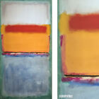 """22W""""x40H"""" UNTITLED NO. 10, 1956 by MARK ROTHKO RED ORANGE BLUE CHOICES of CANVAS"""