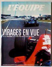 L'Equipe Magazine 28/04/2001; Formule 1; virage en vue/ Candela/ Athlétisme