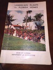 Marketing Florida 1950 Dept of Agriculture Landscape Plants John Watkins