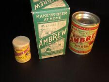 Circa 1920s Ambrew Home Brewing Kit – Complete – Cincinnati, Ohio