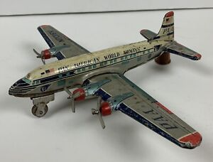 Vintage 50's Pan American Airways Tin Friction Toy Airplane Yonezawa Japan