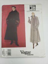 Vntage VOGUE Paris Original Coat Claude Montana Pattern 1253 14-16-18 UNCUT