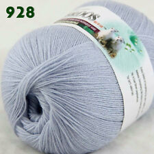 Sale 1ballx50g LACE Crochet Acrylic Wool Cashmere hand knitting Yarn Light Silve