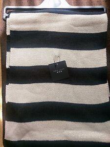 New look Mens Scarf Black & White Stripe