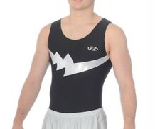 ZONE BOYS FALCON BLACK / SILVER LEOTARD    AGE 15+.       SIZE 38