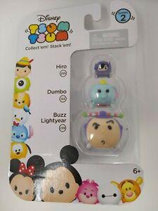 New, Disney Tsum Tsum Series 2, Hiro, Dumbo & Buzz Lightyear