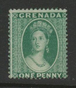 Grenada 1875 1d Green - yellow green SG 14 Mint/ unused no gum.