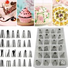 24pcs Icing Piping Nozzles Pastry Tips Cake Fondant Sugarcraft Decorating Tool