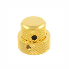 NEW Concentric Stacked KNOB for Fender Strat Tele Bass Gold Fits CTS Pots!