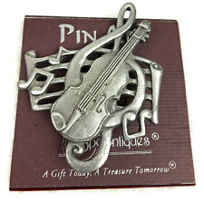 Spoontiques Pewter Musical Violin Pin Brooch Pin Art
