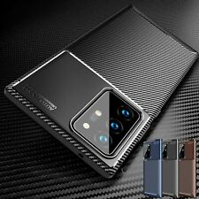 For Samsung Galaxy S21 S20 FE 5G Note 20 Ultra Carbon Fiber Silicone Case Cover