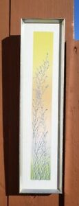 "Original Mid Century Limited Edition Hand Colored Etching Signed Lamb ""Grasses"""