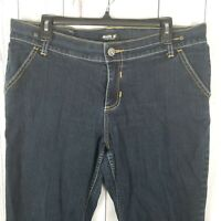 Allen B. Schwartz Womens Jeans Size 14 Side Zipper Cropped Cuffed Denim Capris