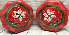 Kitchen Art & Craft Storage Containers Red Green Floral Organizing Plastic
