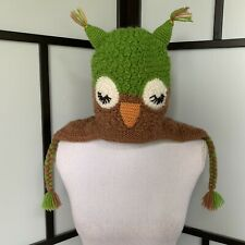 Andes Gifts One Size Alpaca Knit Winter Owl Hat Fleece Lined