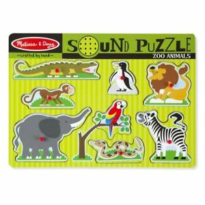 Melissa & Doug Sound Puzzle ~ Zoo Animals 8pc 2+