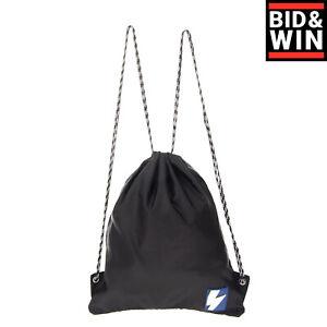 RRP €255 NEIL BARRETT Drawstring Backpack Lightning Bolt Patch Made in Italy