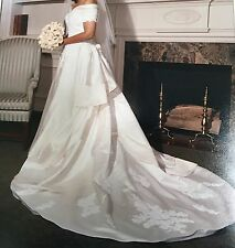 Stunning Retro Designer Open-Back, Off-The-Shoulder Ball Gown (Wedding Dress)