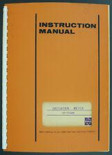 National Panasonic VP-7702B Original Distortion Mètre Manuel de Service/Diagram