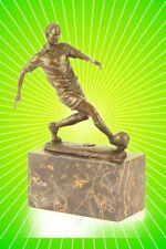 Fußballspieler Bronze Figur Skulptur Aktuell zum Pokal ein Geschenk für Fans