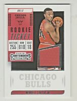 2018-19 Panini Contenders ROOKIE TICKET RELIC WENDELL CARTER JR RC Rookie Bulls