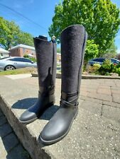 Salvatore Ferragamo Black Rainboots Size 6.5