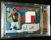 #1/10 DESHAUN WATSON RC AUTO BGS 9.5/10 TEAL ROOKIE *3 CLR JSY 2017 Unparalleled