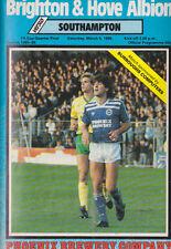 Football Programme>BRIGHTON & HOVE ALBION v SOUTHAMPTON Mar 1986 FAC