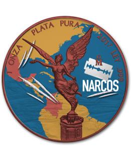 """Mexico 2017 1 Onza Libertad """"NARCOS"""" 1 Oz Silver Coin"""