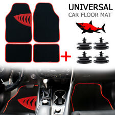 Universal Car Interior Floor Mat Mats Carpet Non Slip Pad Cover Clips Doormat US