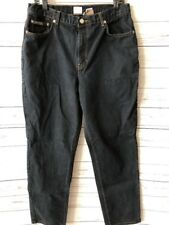 "CALVIN KLEIN Womens Size 14 Black Jeans 30"" Inseam Mom Straight Skinny High Rise"