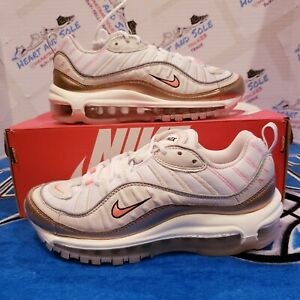 Nike Air Max 98 Running Shoes Womens Size 7 Orewood Brown Lava Glow CI9907-100