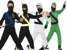 Ninja Assassin Costume Boys Kids Martial Arts Fancy Dress Outfit