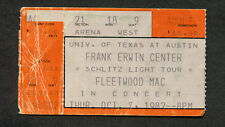 1982 Fleetwood Mac concert ticket stub Greensboro Mirage Tour Stevie Nicks McVie
