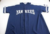 Retro Starter Embroidered Yankees Baseball Jersey Shirt 2XL XXL