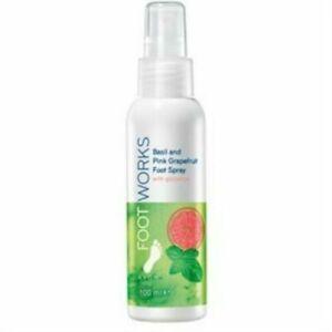 AVON  Foot Works Basil & Pink Grapefruit Foot Spray - 100ml