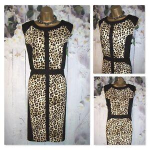 LADIES M&CO DRESS  PLUS CURVE SIZE 20, Animal Leopard Stretch Pencil Shift Dress