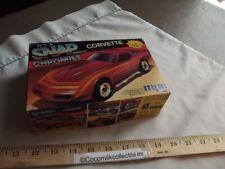 1988 MPC Ertl Snap Chromies Chevrolet Corvette Plastic Model Kit 1/32 Chevy