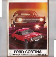 1971 FORD CORTINA Mark III New Zealand Presentation Folder with 3 Brochures TC