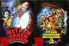 The Texas Chainsaw Massacre 1+2 SET - Mediabook # BLU-RAY+DVD-NEU