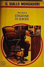 Stagione Di Suicidi,Rex Burns  ,Mondadori ,1988