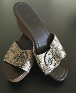 Tory Burch Wedge sandals USA Size 9.5M Pre-Owned