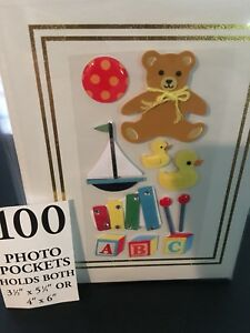 100 Picture Book Bound Photo Album ( BABY Teddy/ Toys )