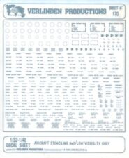 Verlinden Productions 1:32 1:48 Aircraft Stencil No.5 Low Visibility Grey #170