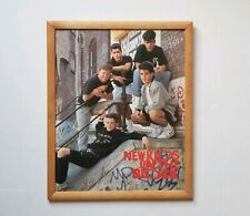 """Vtg 1989 New Kids On The Block Hangin Tough Framed Poster Board by Funky 17""""x20"""""""