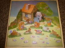 Vintage Hallmark Easter Die Cut Decoration Centerpiece 1980's Bunny Cottage 3-D