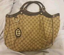 Gucci Sukey Tote Handbag Medium Brown Authentic