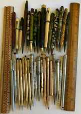 New Listing33 Victorian/Vintage Fountain Pens Mechanical Pencils Combo Gold Sterling Silver